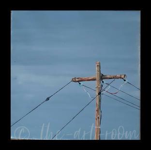 """""""Telephone Pole""""  Elizabeth M.   $185"""
