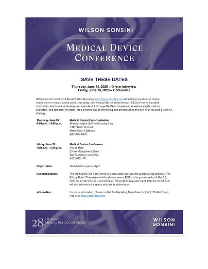 Wilson Sonsini Goodrich & Rosati's 28th Annual Medical Device Conference