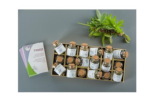 ניחוחות הטבע- מארז קלפים וצמחי תבלין  - DELUXE