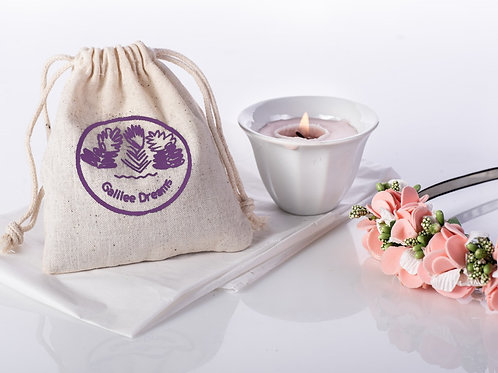 Make someone happy today-   mini herbal candle & relaxing scented sachet