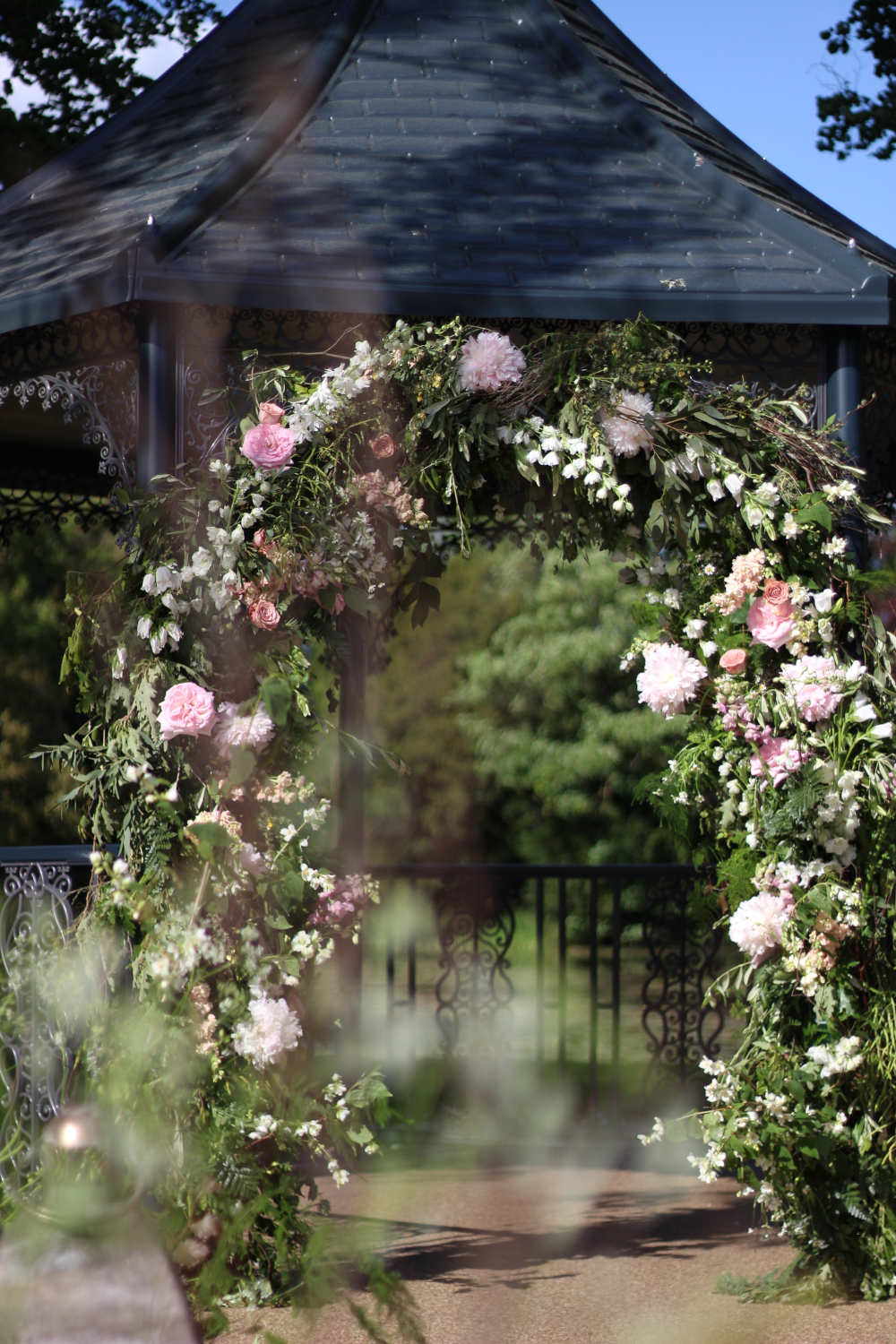 Natural styled floral arch