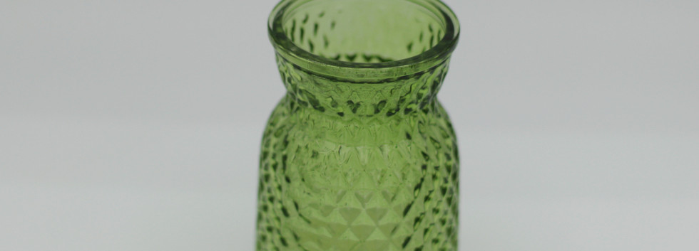 Bottle green textured jar - mini