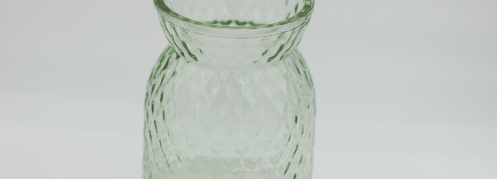 green textured jar - large