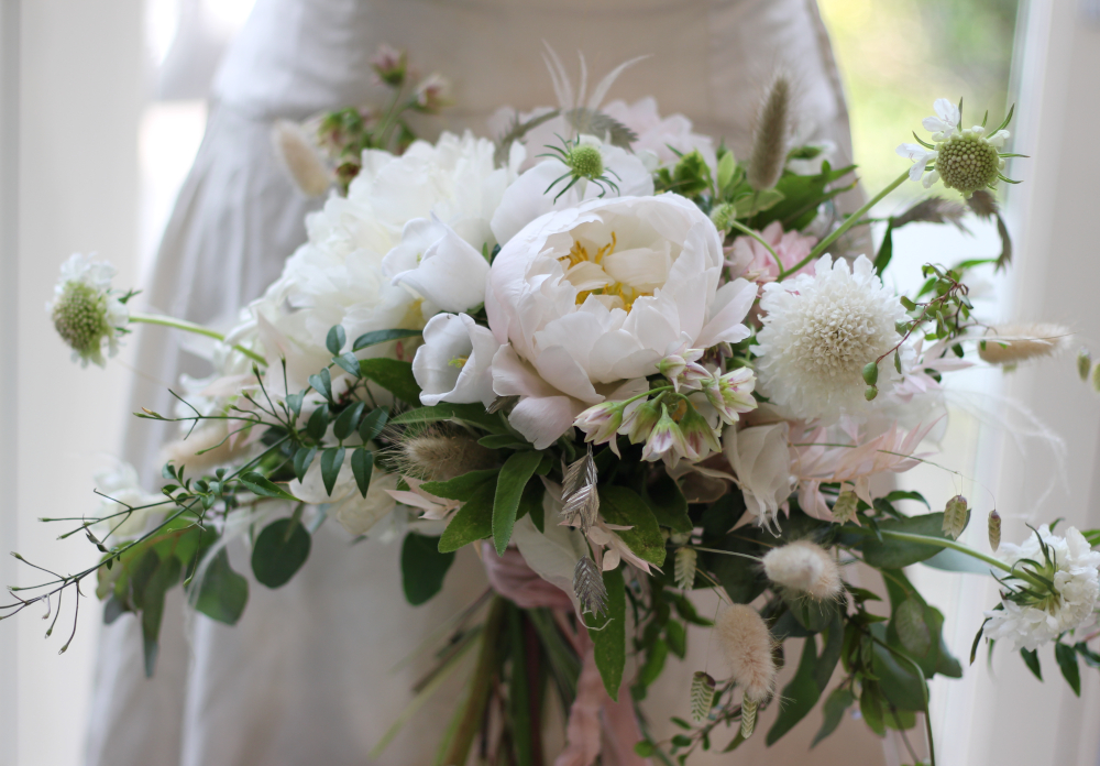 Organic styled bridal bouquet