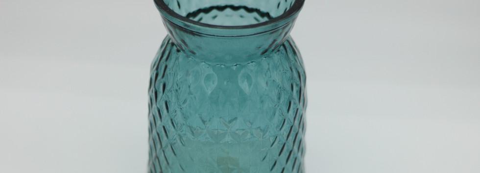 Petrol blue jar - large