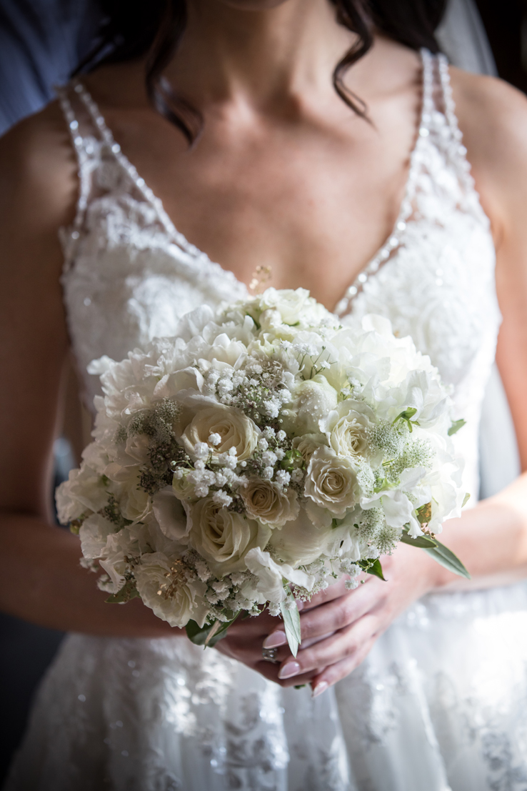 Rachel's dainty and delicate white wedding bouquet.  So ethereal and pretty...