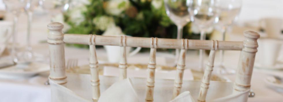 White linen sash