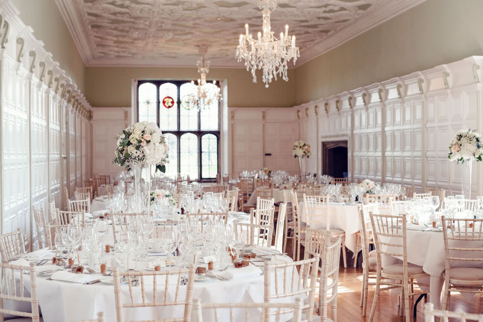 The long gallery at Hengrave Hall.