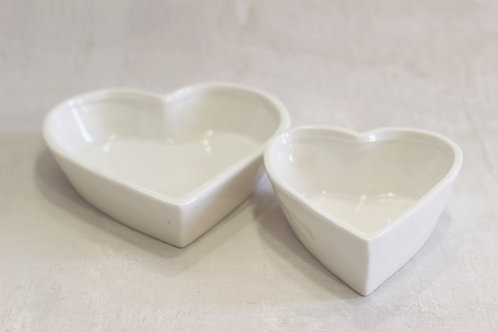 Ceramic Heart Dish Set