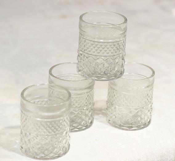 Cut glass vases