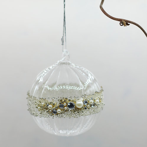 Beaded Glass Bauble