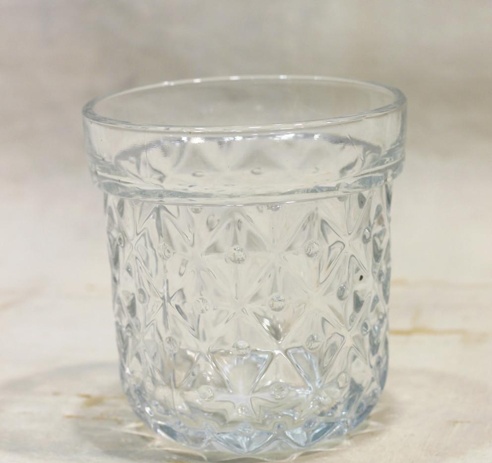Textured glass pot