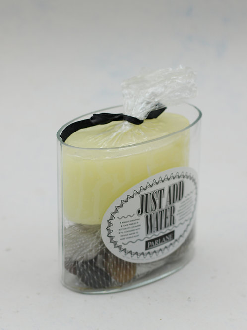 Floating candle pebble vase