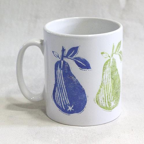 Linen Prints Pears Mug