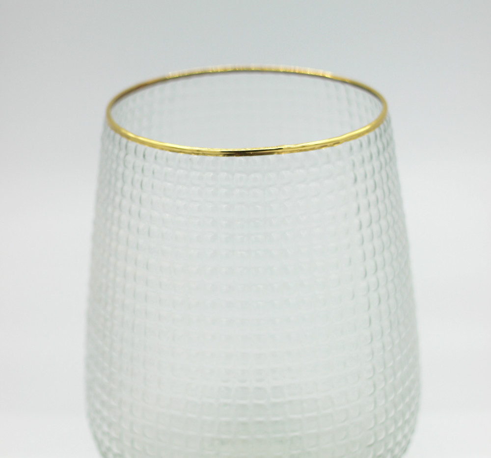 Textured glass lantern