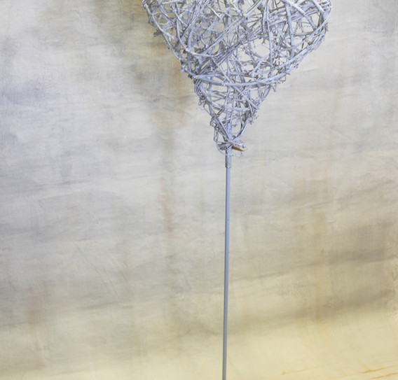 Freestanding rattan heart