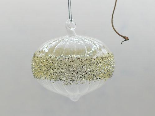 Beaded Glass Bauble Drop