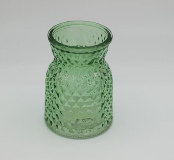 green textured jar - small