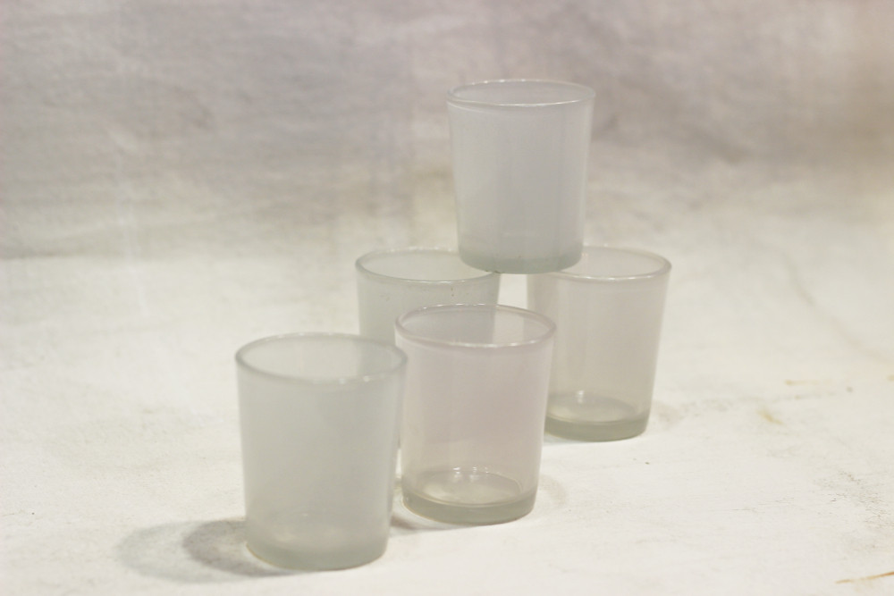 White tealight holders