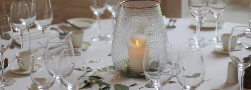 Textured glass lantern
