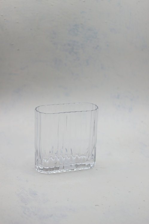 Oval Ribbed Vase