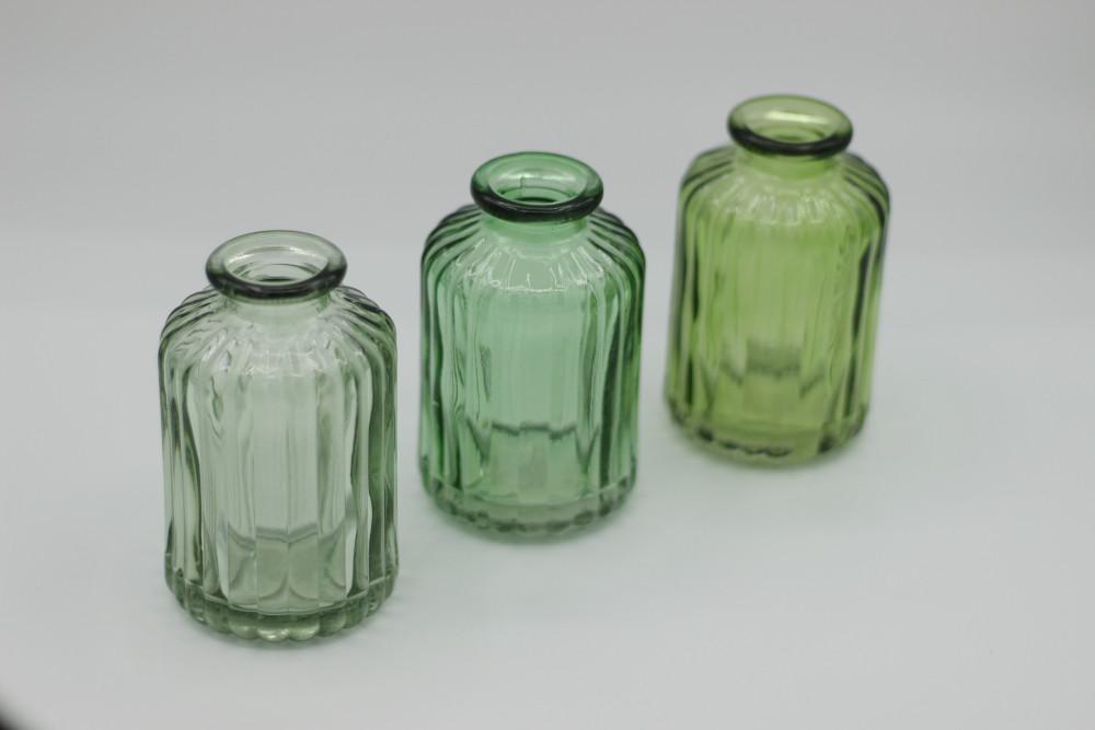 Trio green bottles - mini