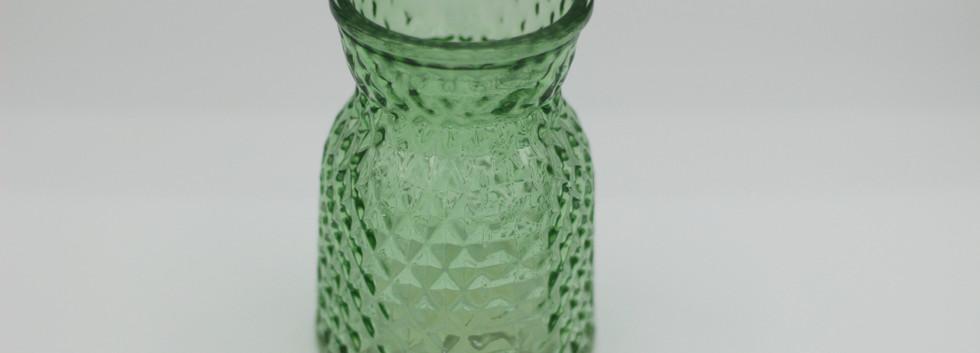 Mid green textured jar - mini