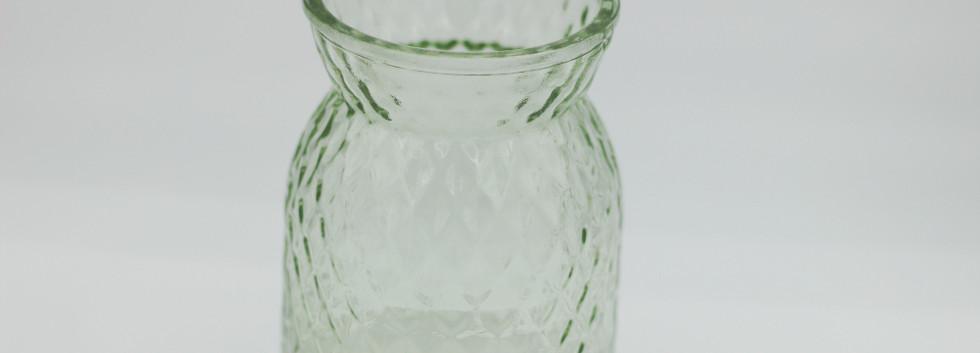 Pale green textured jar - mini