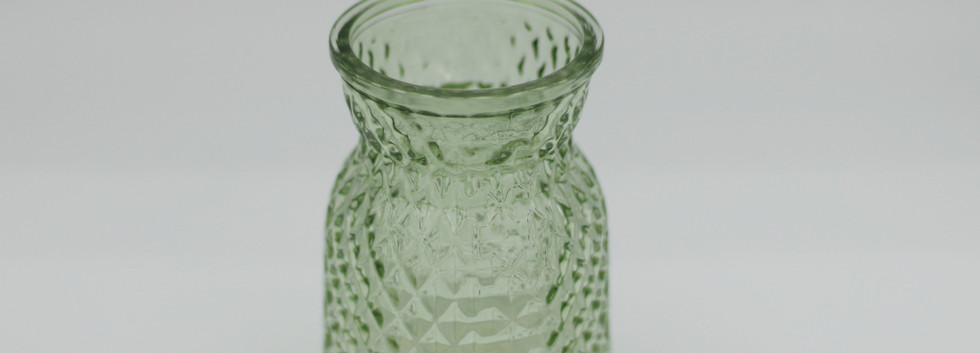 Pale green textured jar - small