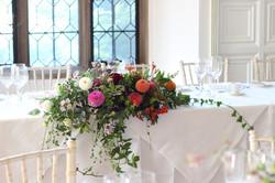 Autumn top table arrangement