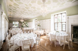 Stunning tall table designs add the just the right amount of vertical interest to the Long Gallery's