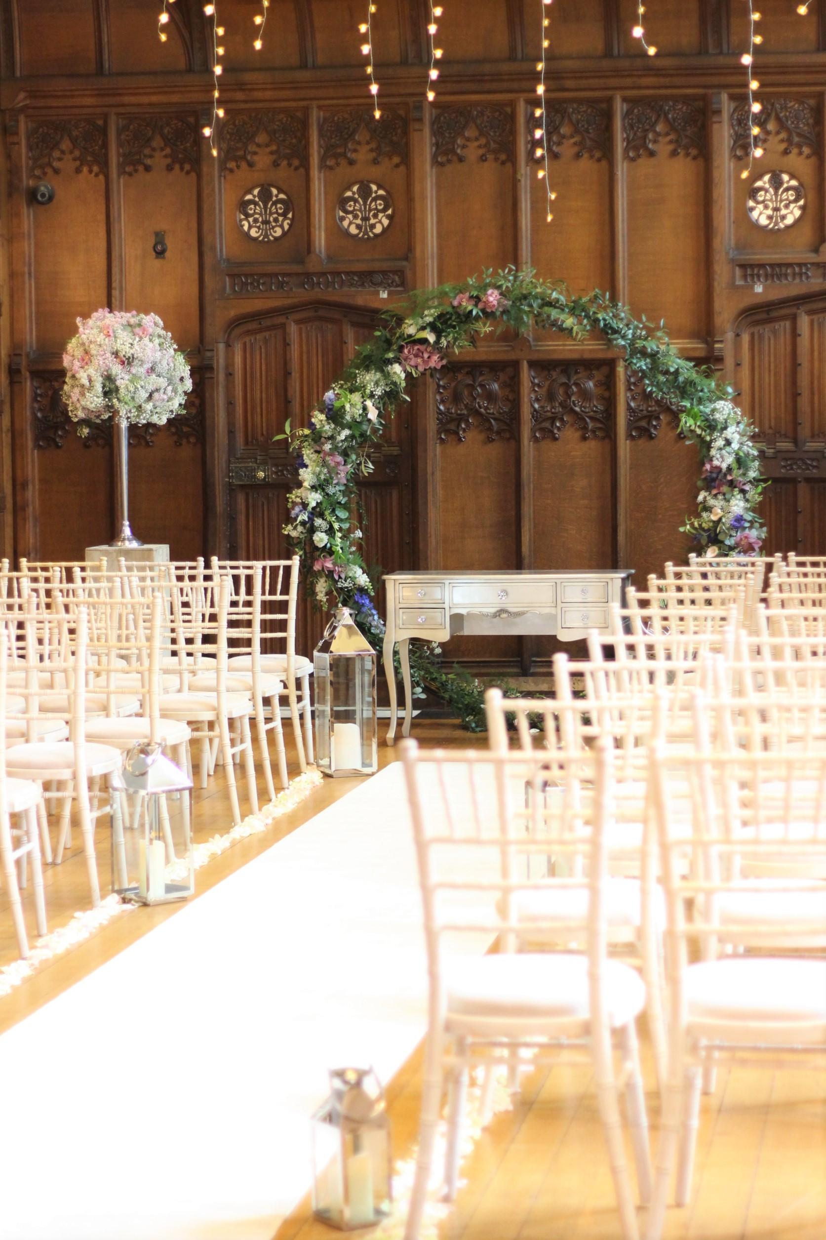 The ceremony room at Hengrave Hall