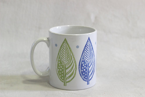 Linen Prints Large Leaf Mug