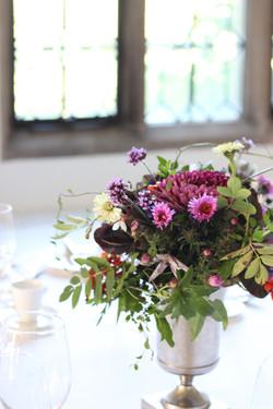 Autumnal urn arrangement