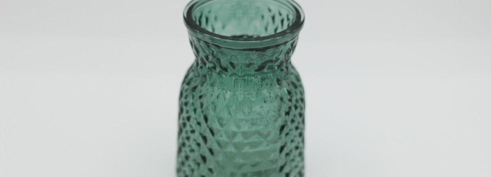 Petrol blue jar - mini