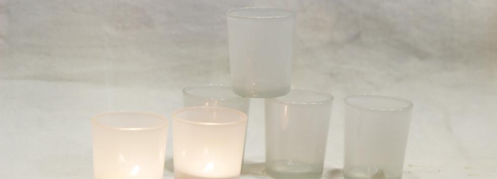 White tealight holders