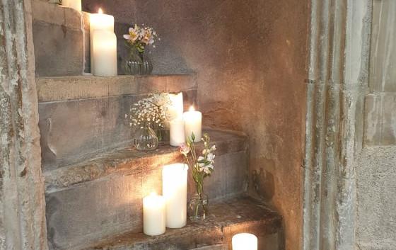 Real wax Church Candles