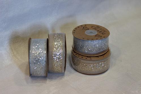 Rustic Charm Glitter Ribbon