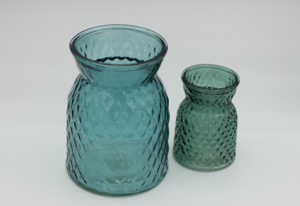 Petrol blue jars
