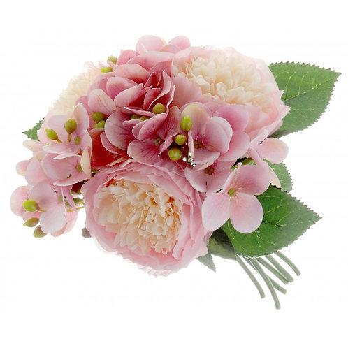 Peony & Hydrangea Posy - Pink