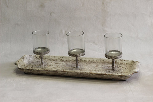 Rustic Tray Candle holder