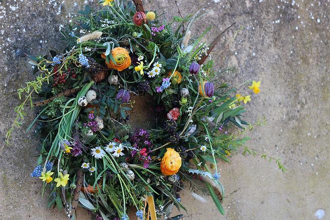 Spring Door Wreath by Thrive