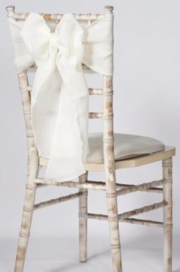 White linen chair sash