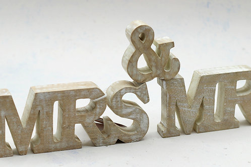 Wooden Mr & Mrs