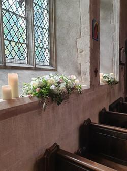 CHURCH WINDOWSILL FLORALS