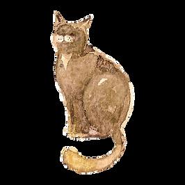 Watercolor Cat 3