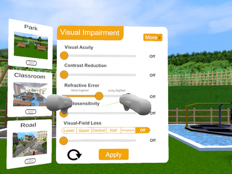 Angel Eyes - VR Visual Impairment Simulator