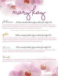 Mary Kay Beauty Experience Platinum, Gol
