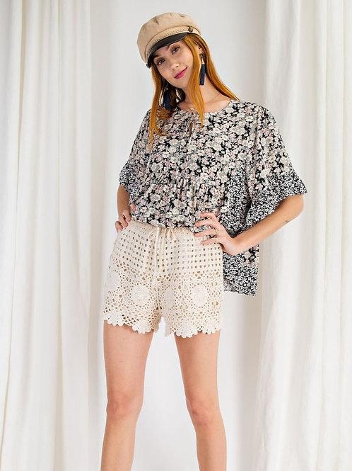 Crochet Lined Shorts