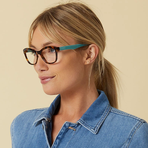 Peepers Glasses-Pebble Cove-Tortoise/Turquoise